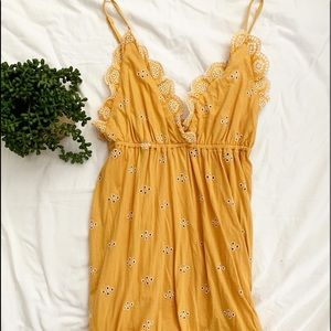 ASOS yellow strappy summer dress